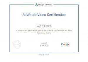 Google AdWords Video Certification