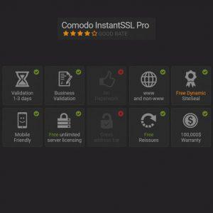 Comodo instantsSSL Pro